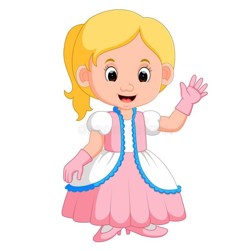 Kids girl princes cartoon. Illustration of kids girl princes cartoon stock illustration