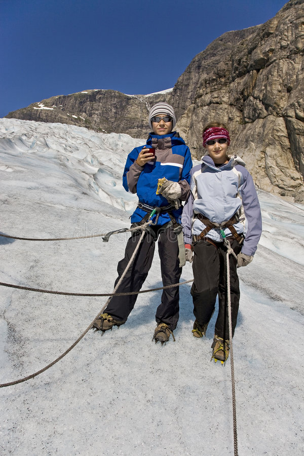 Download Kids At Glacier Tour In Norway Stock Photo - Image: 7597848