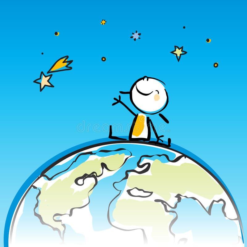 Kids globe royalty free illustration
