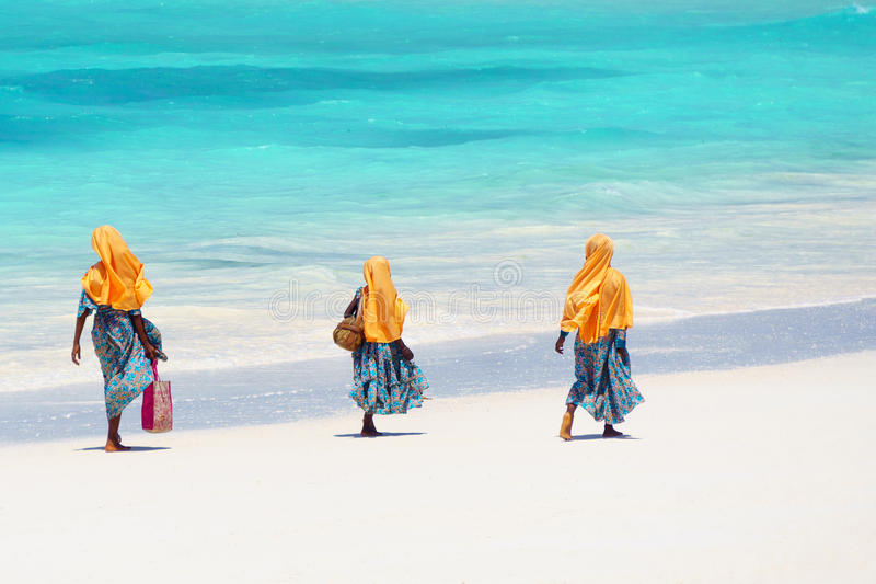 Kids going to school in Zanzibar tanzania. Kids going to school in Zanzibar coast in tanzania royalty free stock photo