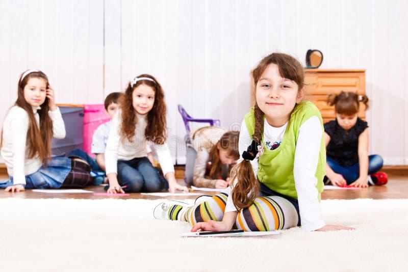 Kids group stock image