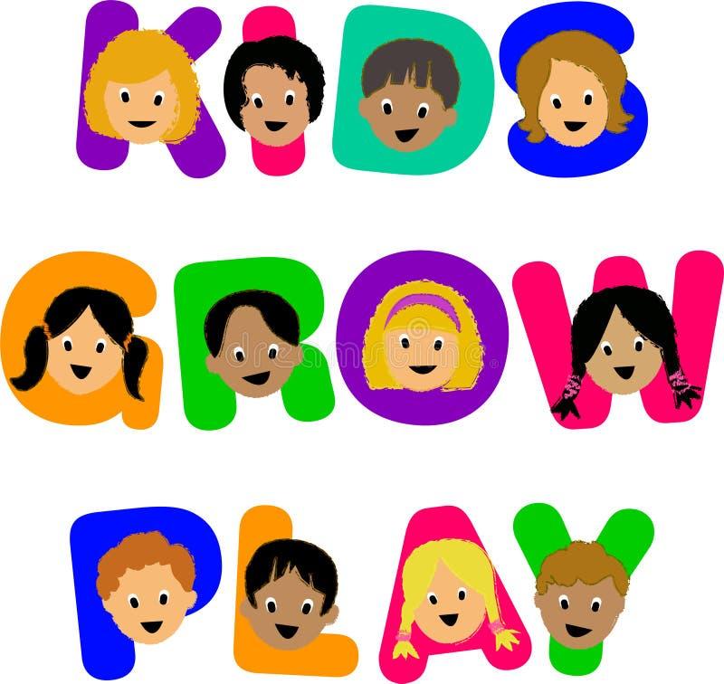 Kids Grow Play stock image