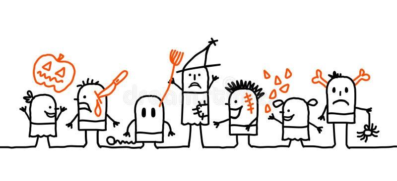 Kids & Halloween stock photo