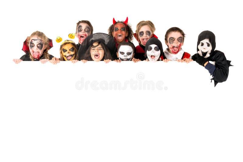Kids in Halloween stock photography