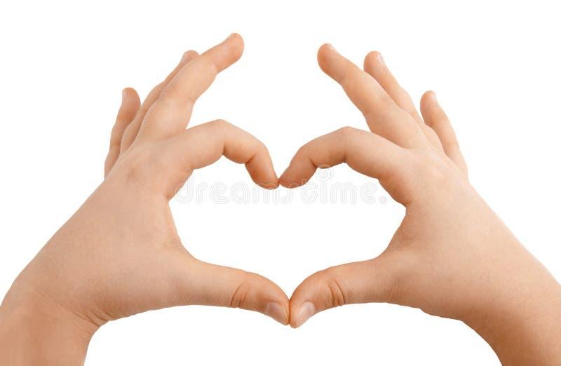 Download Kids Hands Showing Heart Shape Stock Image - Image: 29181079