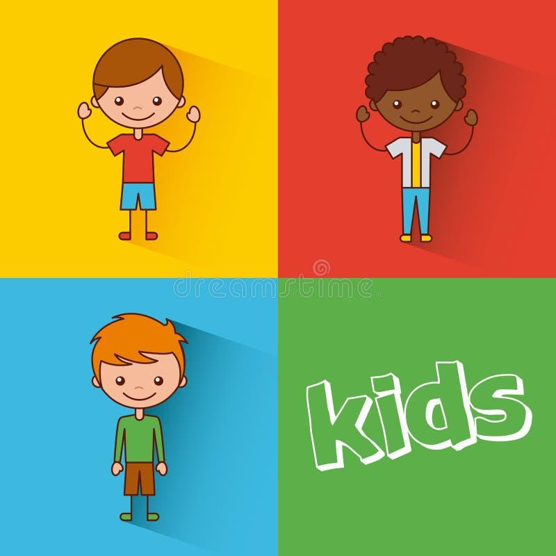 Kids happy illustration vector illustration