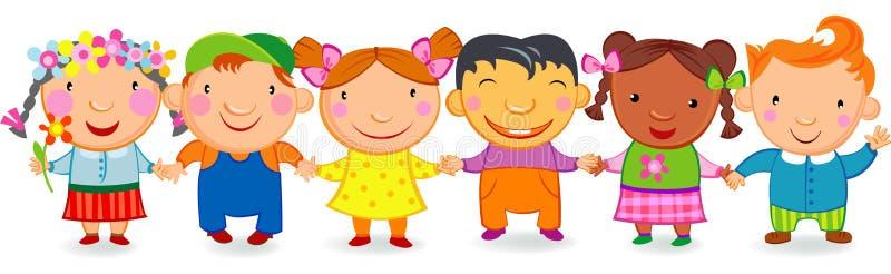 Download Kids holding hands stock vector. Illustration of friends - 8413528