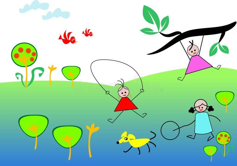 Kids holiday royalty free illustration