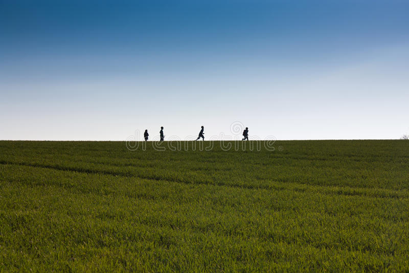 Download Kids On The Horizon Stock Images - Image: 24054294