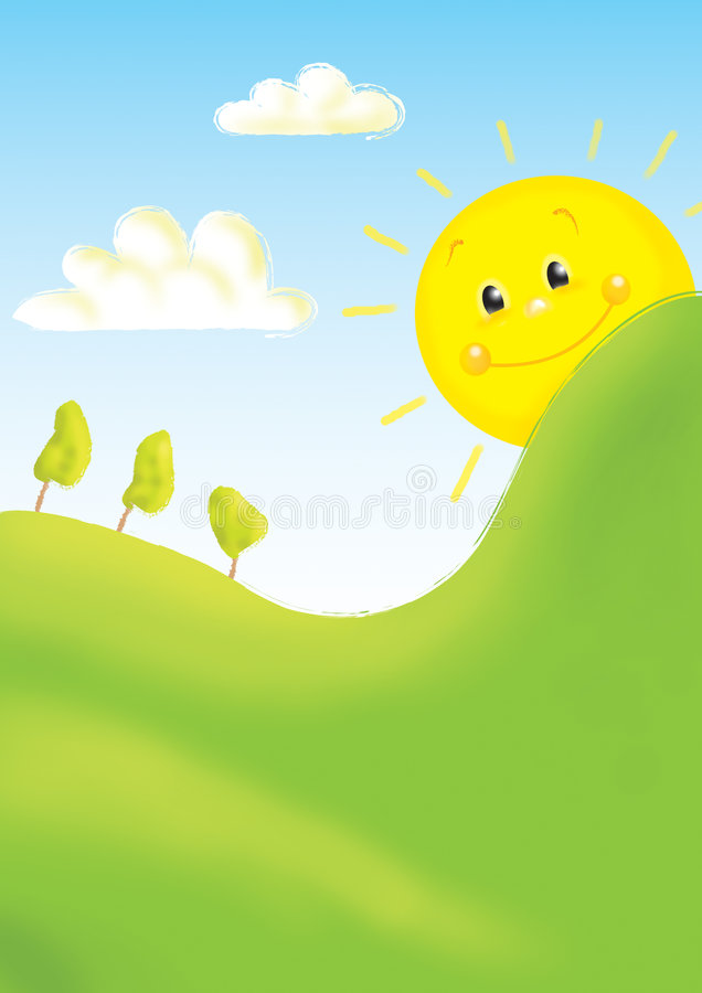 Download Kids illustration 15 stock illustration. Illustration of cloud - 5822728