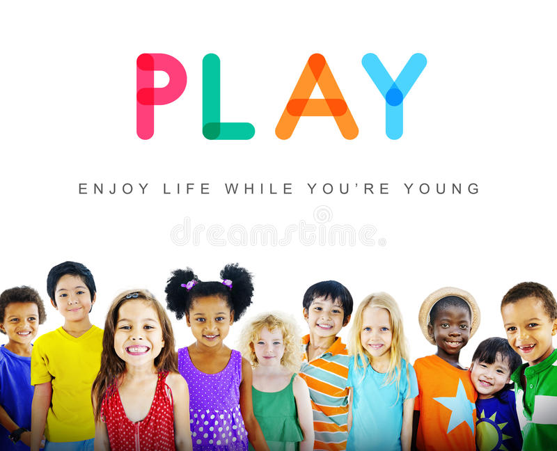 Kids Innocent Children Child Young Concept stock image