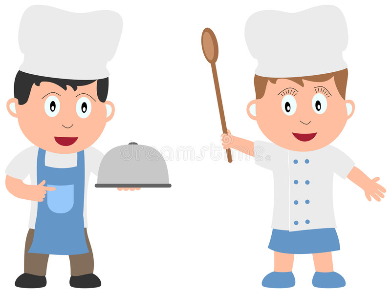 Kids and Jobs - Cooking [1]. Two chefs (boy and girl) on white background. Kids and Jobs series: you can find other jobs in my portfolio. Eps file available