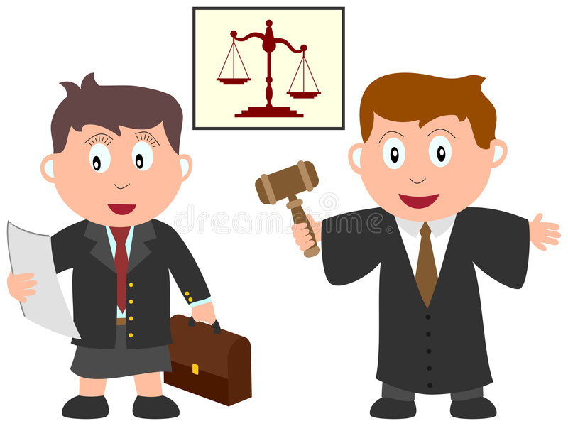 Kids and Jobs - Law vector illustration