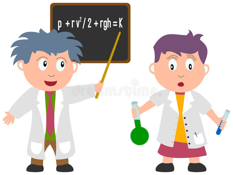 Kids and Jobs - Science. A scientist and a chemist isolated on white background. Kids and Jobs series: you can find other jobs in my portfolio. Eps file