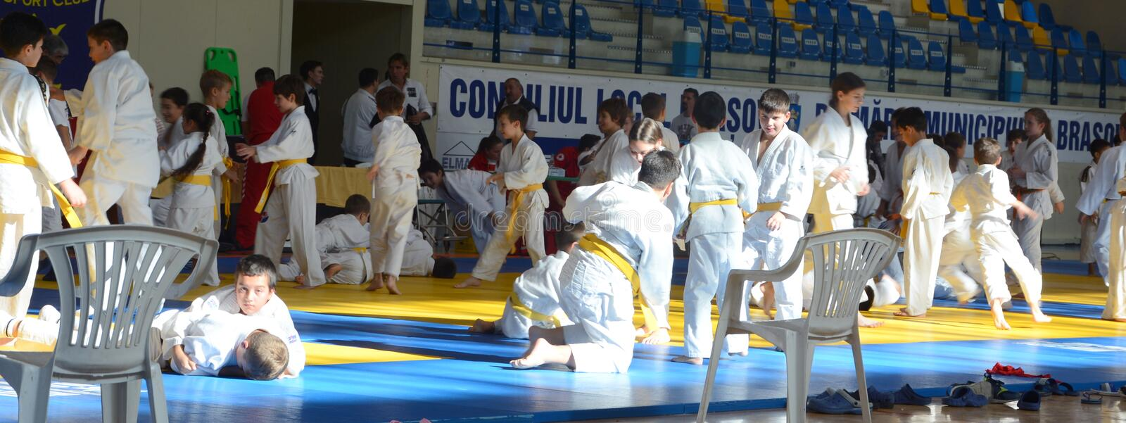 Kids Judo Cup 2016. The National contest Kids Judo Cup 2016 in Brasov royalty free stock photography