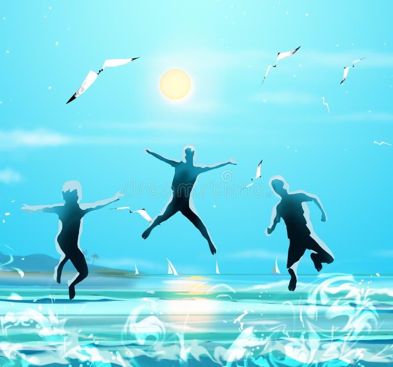 Download Kids Jumping Stock Illustration - Image: 69951199