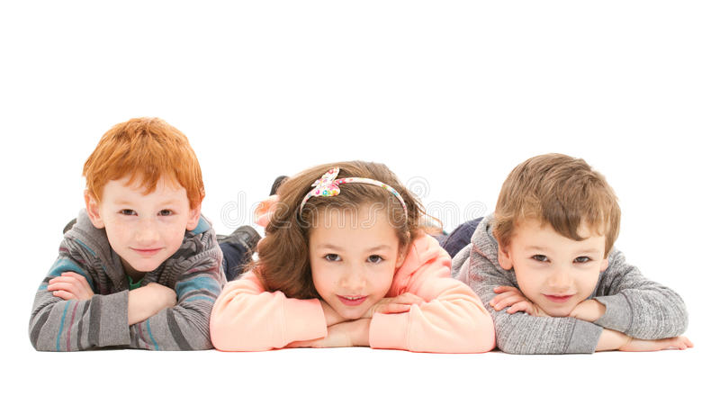 Download Kids laying on floor stock image. Image of friends, lying - 31464131
