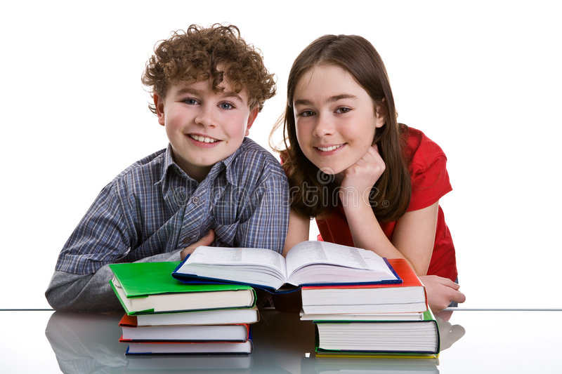 Download Kids learning stock photo. Image of teenager, dictionary - 4853454