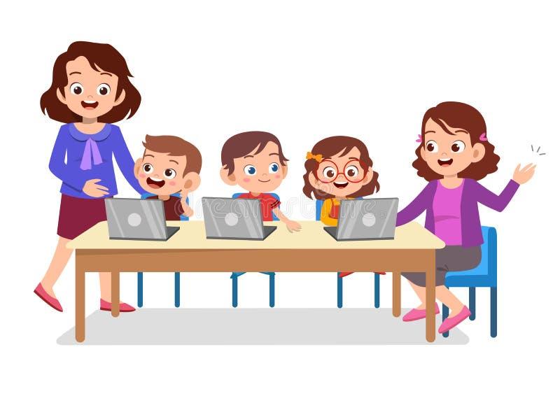 Computer Kids Stock Illustrations – 7,534 Computer Kids ...