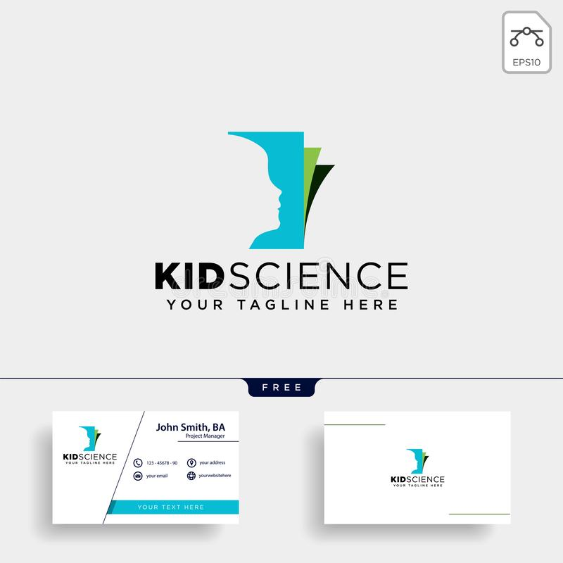 Kids learning, science creative logo template vector illustration icon element isolated. Vector file stock photo