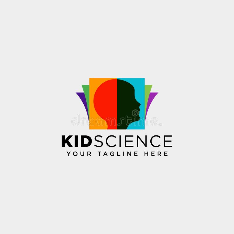 Kids learning, science creative logo template vector illustration icon element isolated. Vector file stock image