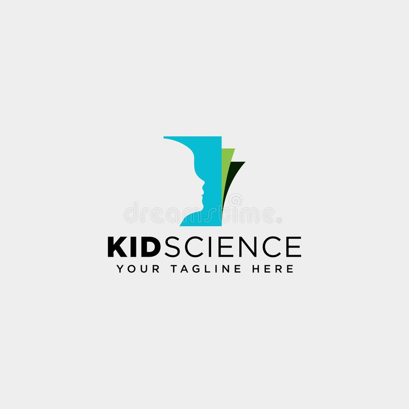 Kids learning, science creative logo template vector illustration icon element isolated. Vector file royalty free stock images