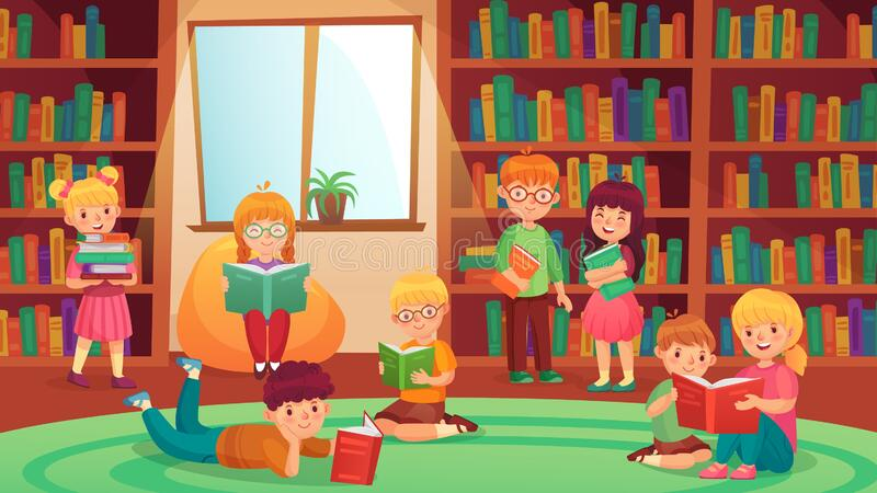 Kids Library Stock Illustrations – 4,768 Kids Library Stock Illustrations,  Vectors & Clipart - Dreamstime