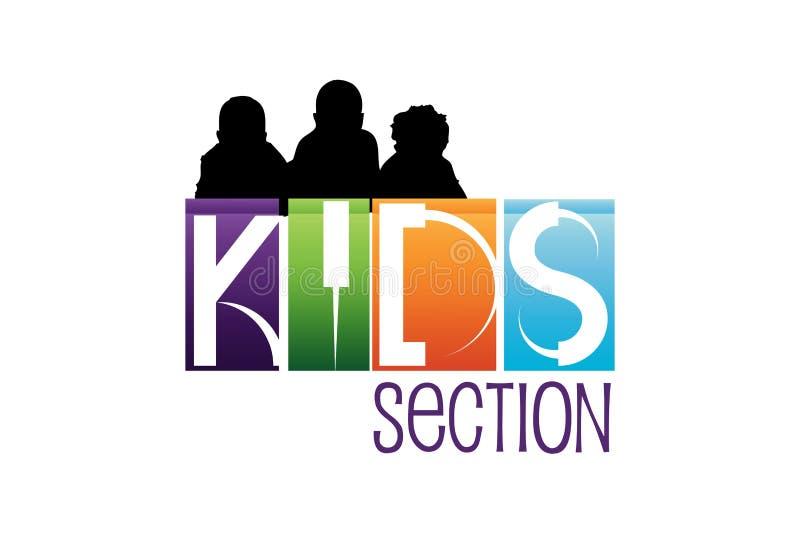 Kids Logo Design stock illustration