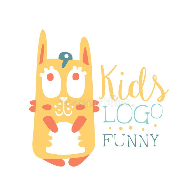 Kids Logo Funny Squirrel Original Design Baby Shop Label Fashion