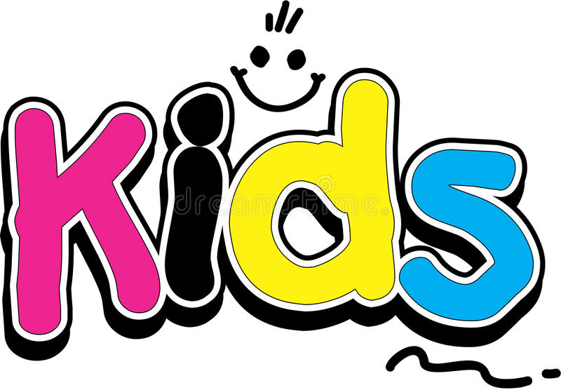 Kids Logo. Smiley Face colorful royalty free illustration