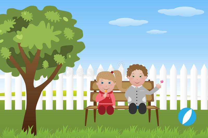 Kids with lollipop vector illustration