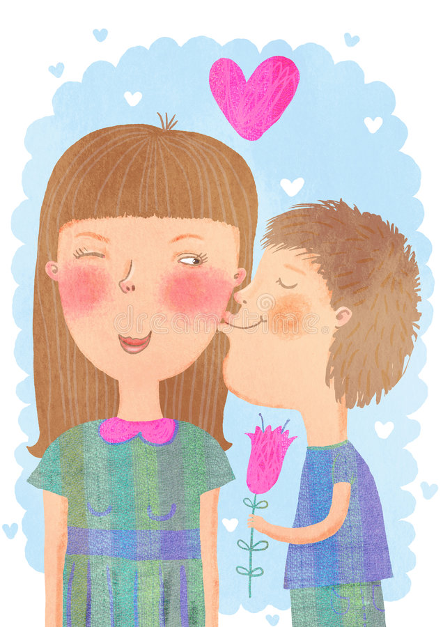 Kids In Love Stock Images