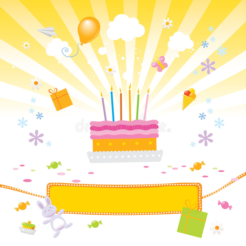 Kids love it- birthday party vector illustration