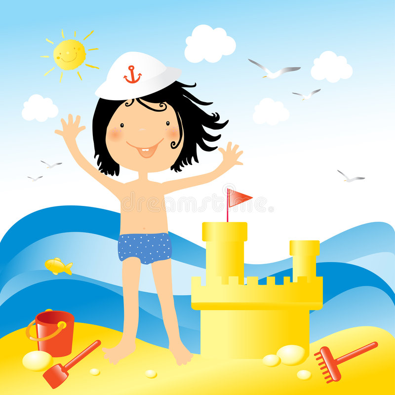 Free Kids Love To Build Sand Castel Royalty Free Stock Photography - 5084577