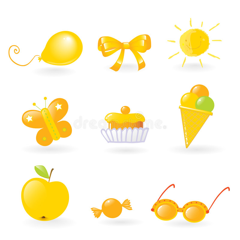 Download Kids love it- yellow stock vector. Illustration of different - 4651862
