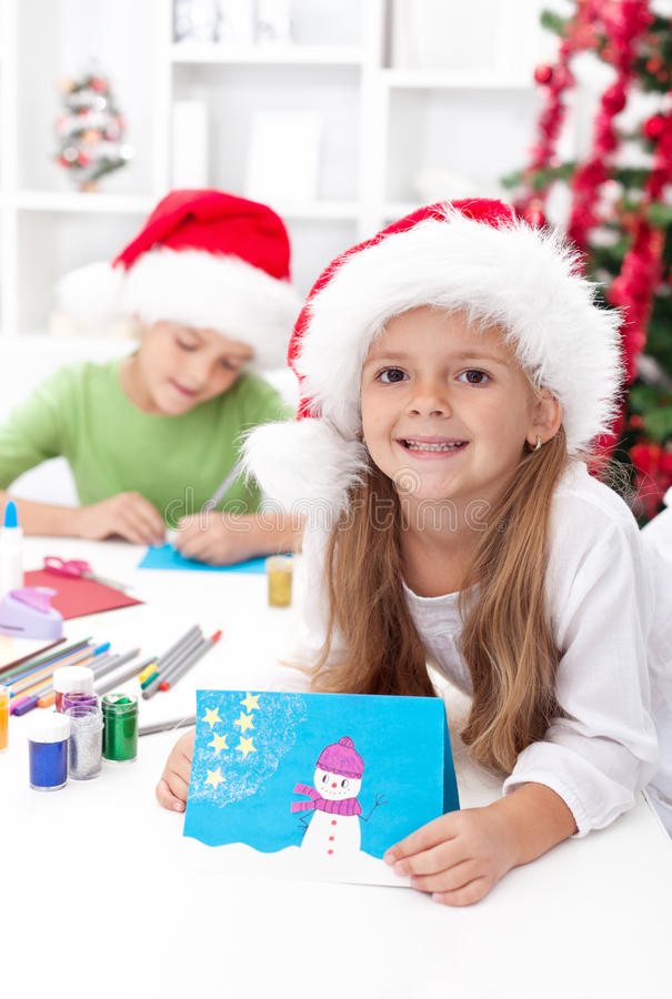 Kids making christmas greeting cards stock photo image of brother download kids making christmas greeting cards stock photo image of brother color 21612132 m4hsunfo Images