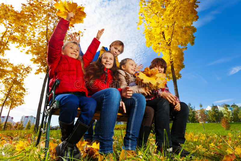 Download Kids in maple park stock image. Image of friend, lifestyle - 34945979