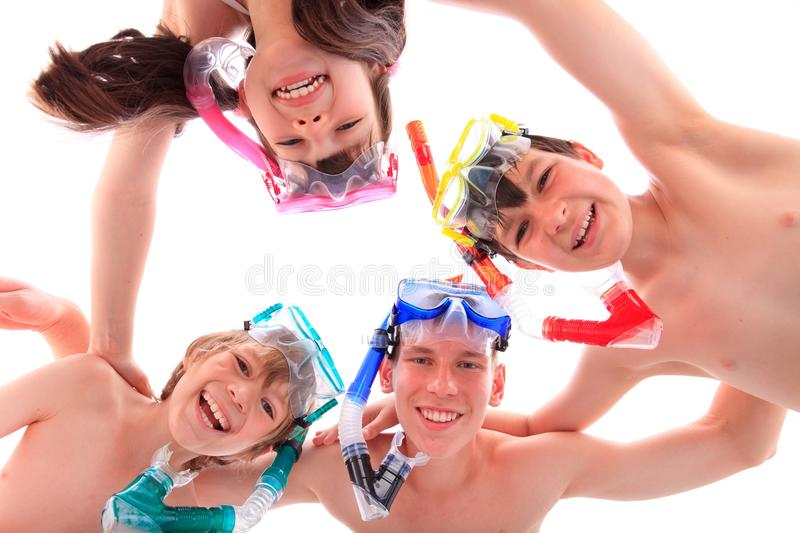 Download Kids With Masks And Snorkels Stock Image - Image: 11238519
