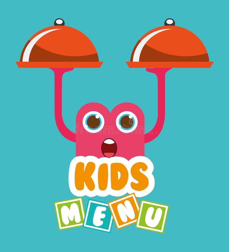 Kids menu design. Illustration eps10 graphic vector illustration