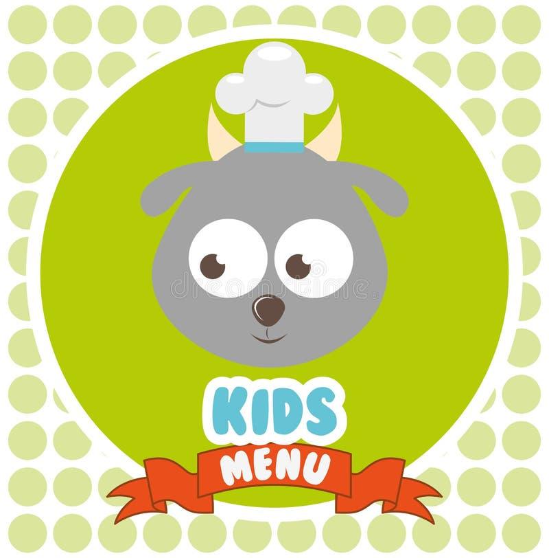 Kids menu design. Illustration eps10 graphic stock illustration