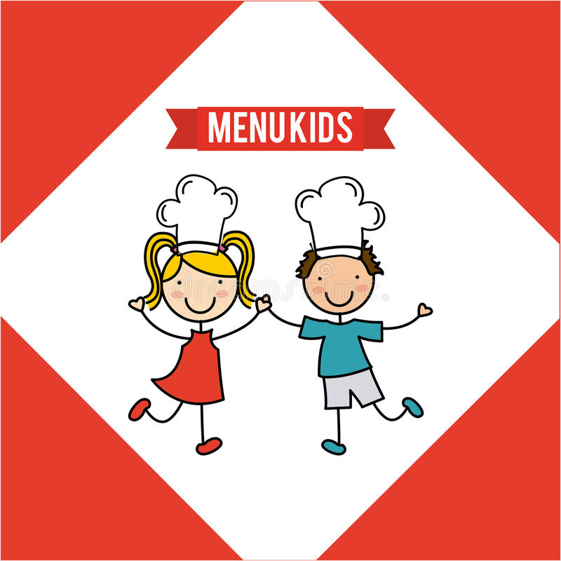 Kids menu. Design, vector illustration eps10 graphic royalty free illustration
