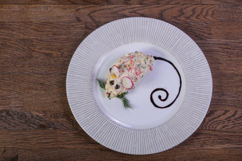 Kids menu - salad stock photos