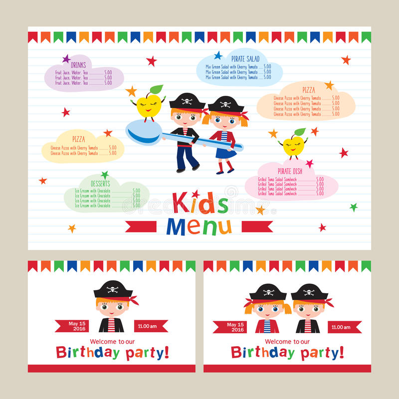 Kids menu vector template stock vector illustration of birthday download kids menu vector template stock vector illustration of birthday 67757041 stopboris Gallery
