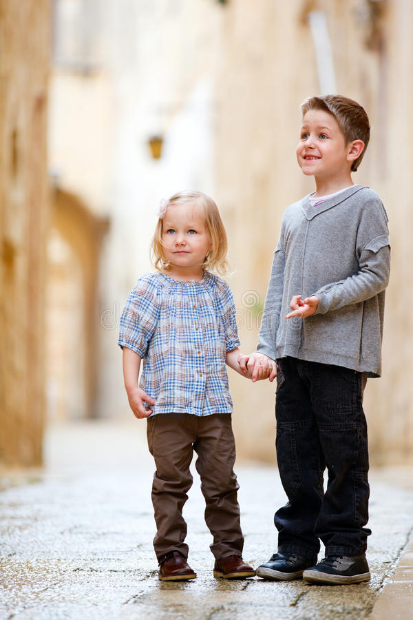 Download Kids outdoors portrait stock photo. Image of casual, people - 19965434
