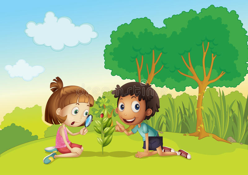 Kids In The Park Royalty Free Stock Photos