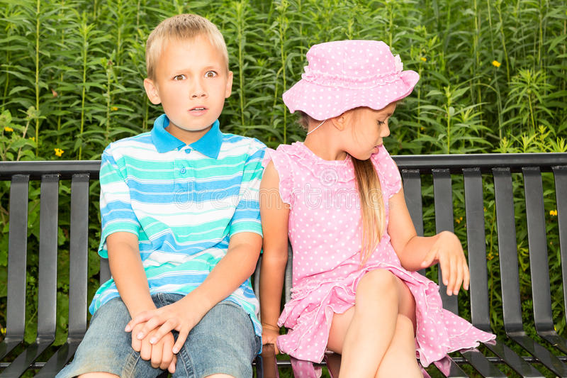 Kids In A Park Royalty Free Stock Images