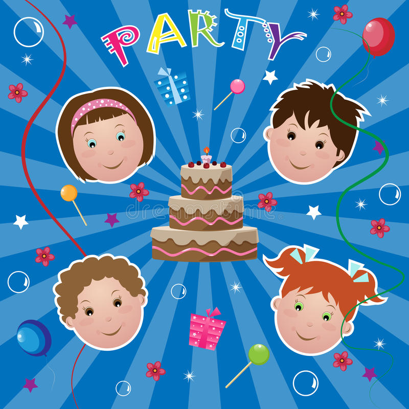 Kids party vector illustration