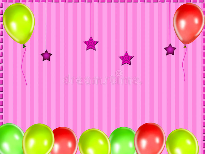 Download Kids party background stock illustration. Image of decoration - 13123876