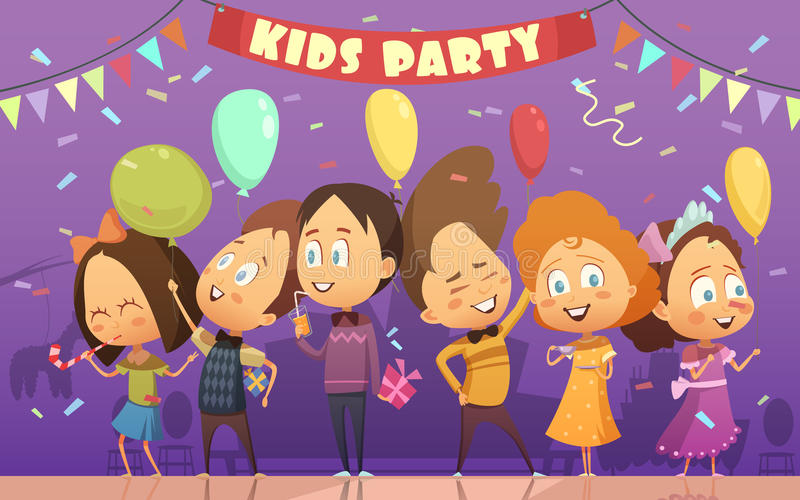 Kids Party Illustration royalty free illustration