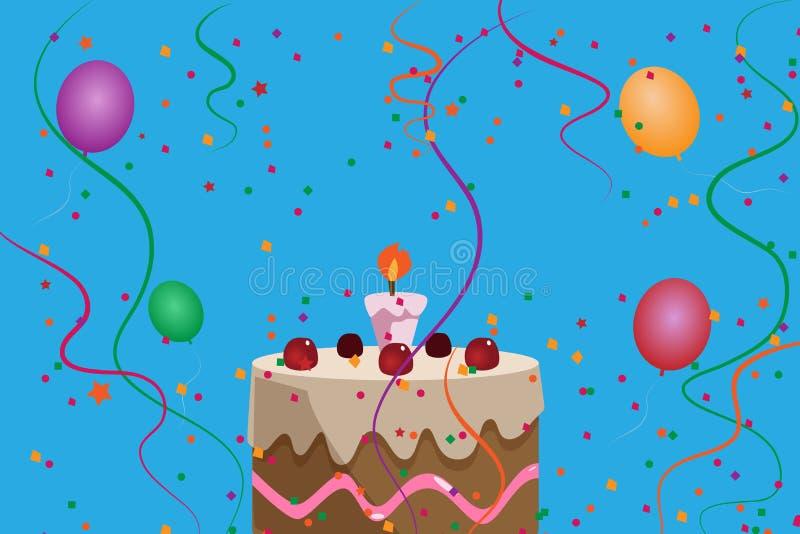 Kids party invitation vector illustration